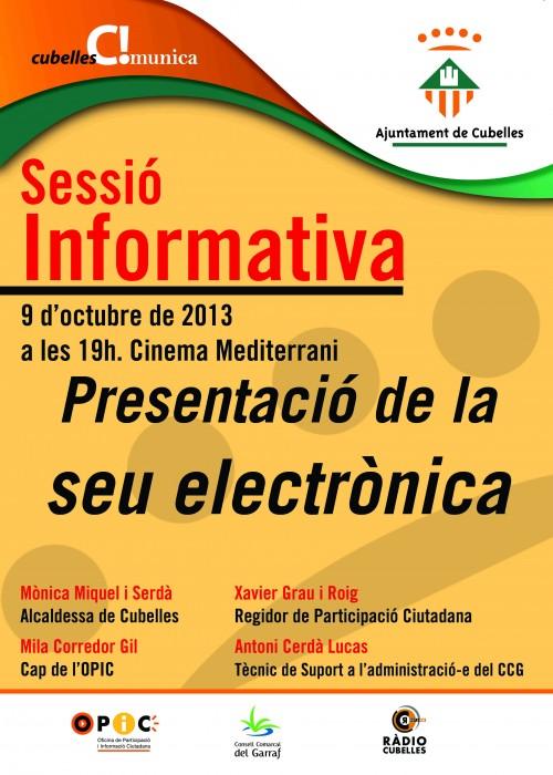 Cartell Sessió informativa seu electrònica