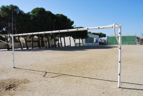 Imatge actual del camp de futbol petit