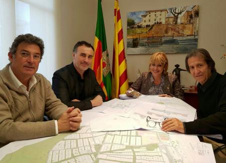D'esquerra a dreta, Xavier Martínez, Albert Casas, Rosa Fonoll i Enric Serra. Foto: TN Comunicació