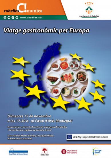 Viatge gastronòmic per Europa