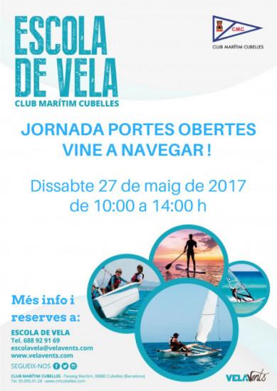 Cartell Jornada portes obertes Club Marítim Cubelles 2017