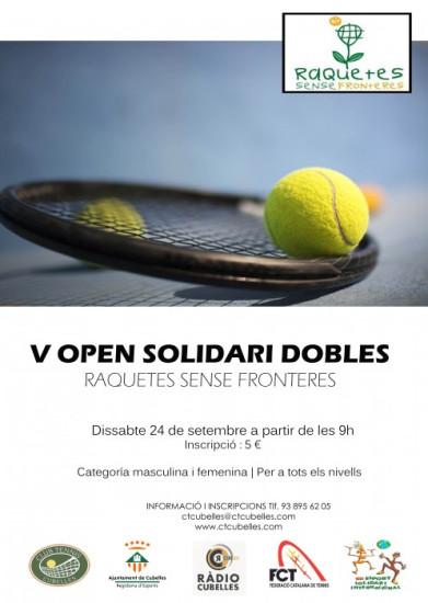 Cartell V Open solidari de tennis 2016