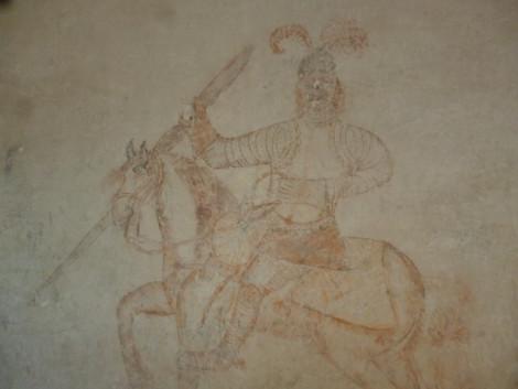 Grafit del cavaller, descobert en l'última restauració