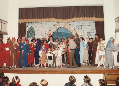 Foto de l'elenc d'Els Pastorets de 1990