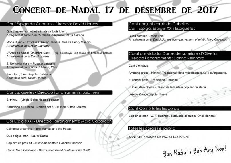 Concert Nadal Cor Espiga 2017